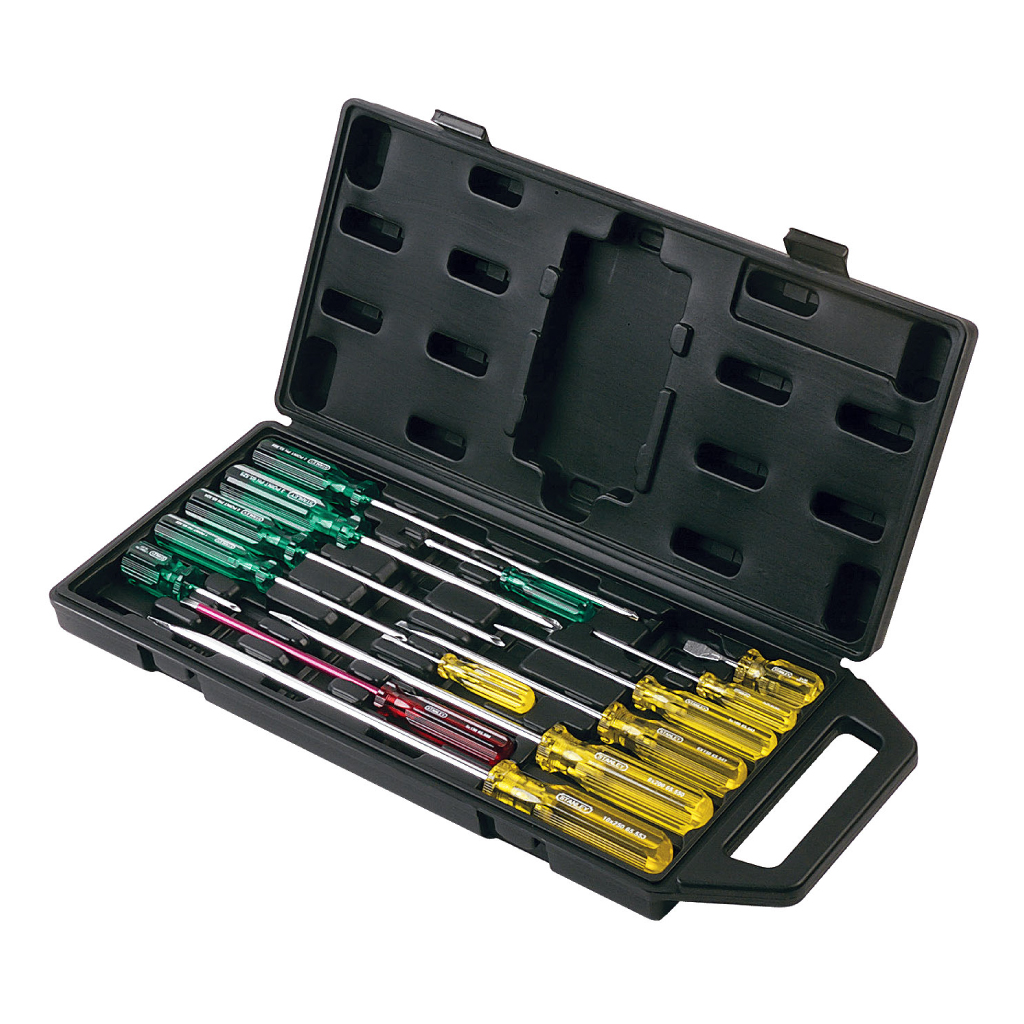 STANLEY SCREWDRIVER SET ACETATE 14 Pce 65-750