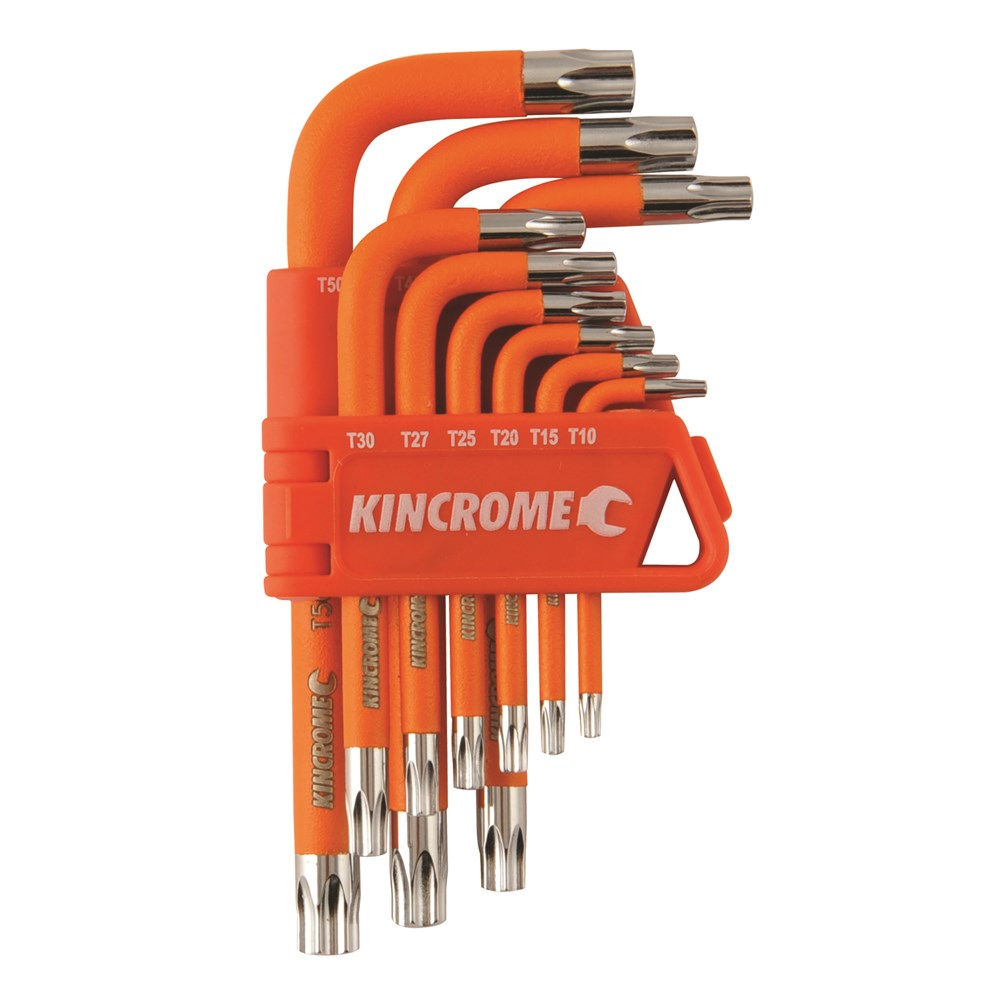 KINCROME TORX KEY SET TAMPER PROOF | SHORT 9 PCE K5145