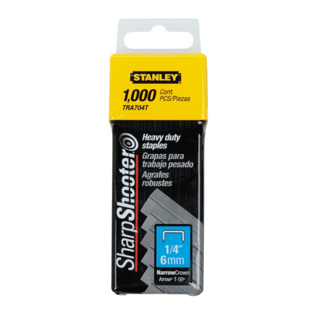 STANLEY STAPLES HEAVY DUTY |  6mm 1000PK TRA704T