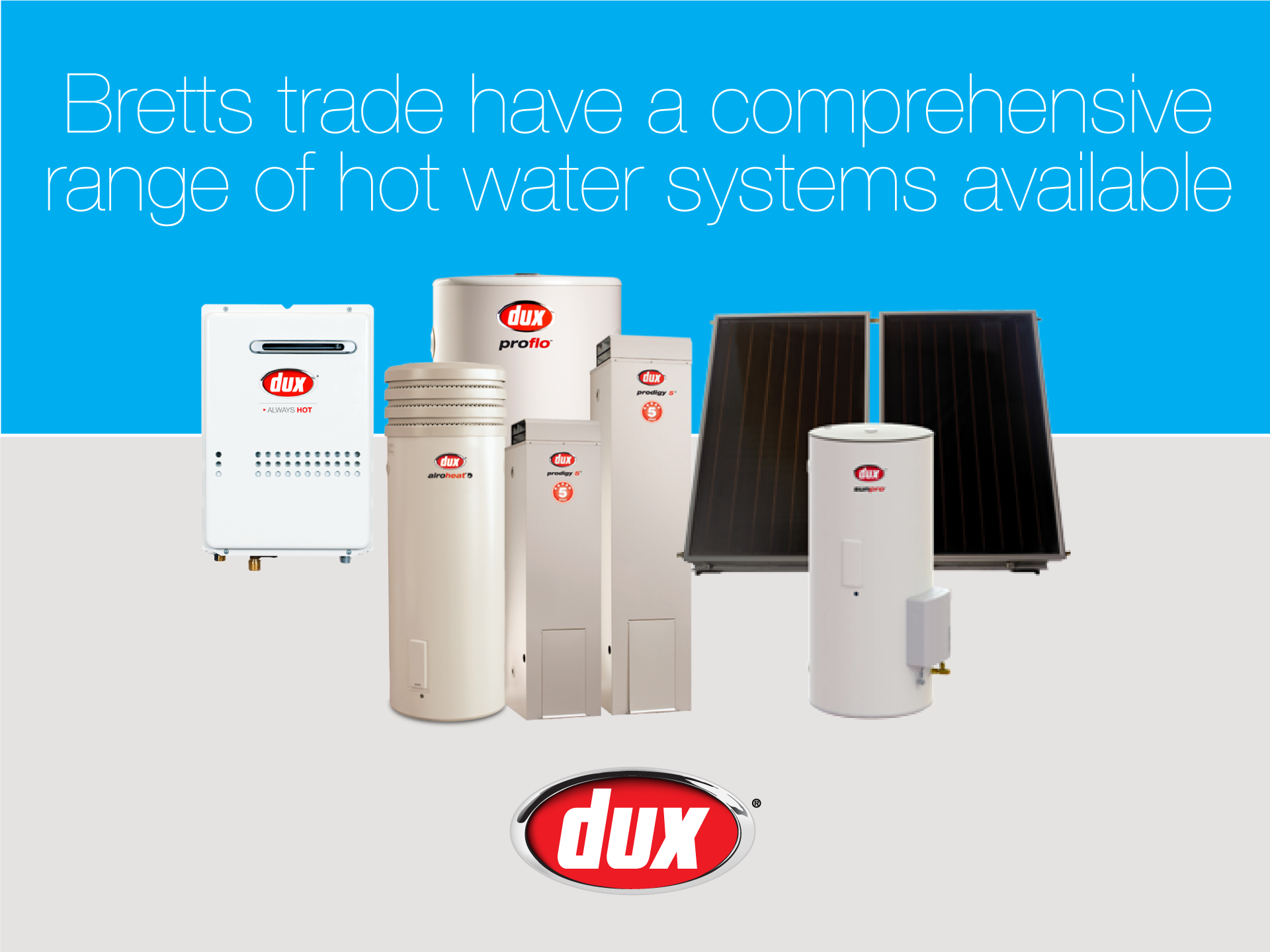 Dux hot water