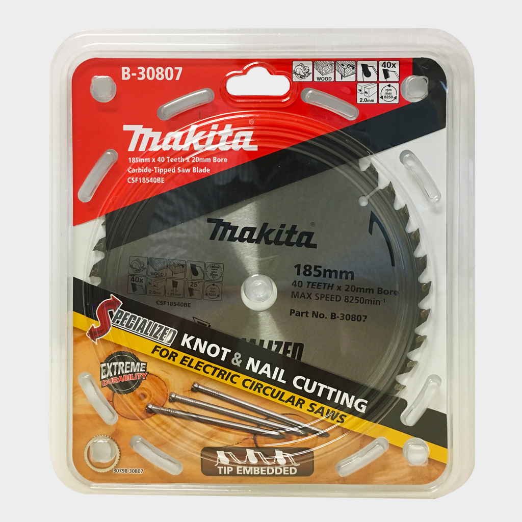 MAKITA SAW BLADE TCT KNOT & NAIL | 255mm x 25.4 x 32T B-30891