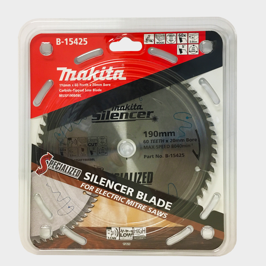 MAKITA SAW BLADE SILENCER 190mm x 20 x 60T B-15425
