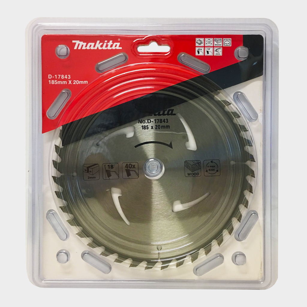 MAKITA SAW BLADE STD WOOD CUTTING CIRC SAW | 185mm x 20mm x 24T D-34279